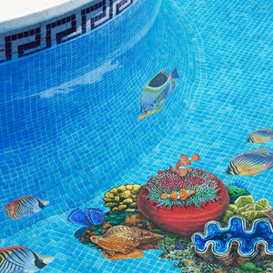 Threadfin Butterflyfish | PORC-TF25-5 | Pool Mosaic by Custom Mosaics