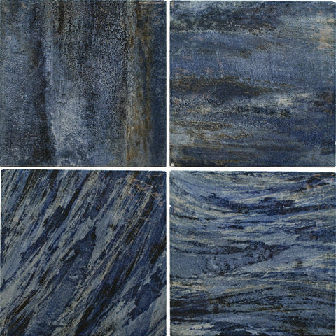 "GAMPAINBLU6 Blu, 6"" x 6"" (1 box, 44 pcs) - Porcelain Pool Tile"