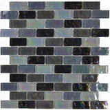 "Black Blend, 1"" x 2"" - Glass Tile"