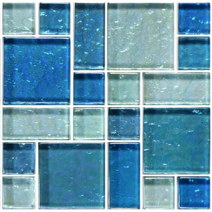 GG8M2348B18 - Blue Blend, Mixed - Glass Tile
