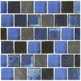 "GL82323B1 - Light Blue Blend, 1"" x 1"" - Glass Tile"