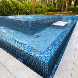 "Azure, 1"" x 1"" - Glass Tile"