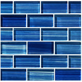 "Caribbean Blue, 1"" x 2"" - Glass Tile"