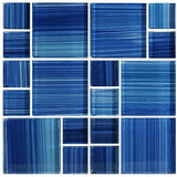 Caribbean Blue, Mixed - Glass Tile