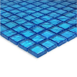 "Blue, 1"" x 1"" - Glass Tile"