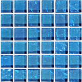 "GG82323B17 - Blue, 1"" x 1"" - Glass Tile"