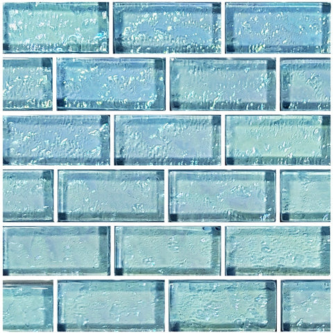 "Aquamarine, 1"" x 2"" Mosaic Tile 