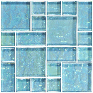 Aquamarine, Mixed | GG8M2348T9 | Glass Mosaic Tile for Pools