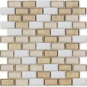 "Bay, 1"" x 2"" Staggered - Glass Tile"