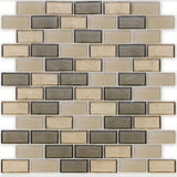 "Castle, 1"" x 2"" Staggered - Glass Tile"