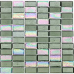 "Fins, 1"" x 2"" Stacked - Glass Tile"