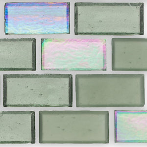 "Fins, 1"" x 2"" Staggered - Glass Tile"