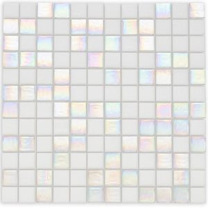 "Quartz, 1"" x 1"" - Glass Tile"