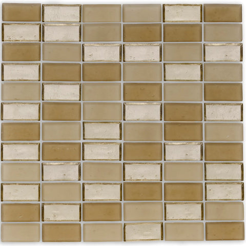 "Shore, 1"" x 2"" Stacked - Glass Tile"