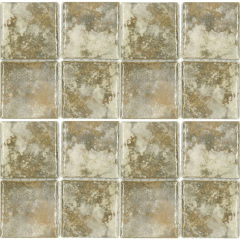 "JOYA-303 - Fujiwa Gold, 3"" x 3"" - Porcelain Pool Tile"