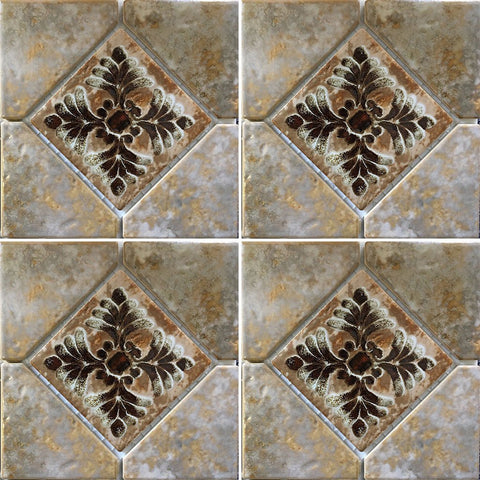 "JOYA-503 - Fujiwa Gold, 6"" x 6"" Deco - Porcelain Pool Tile"
