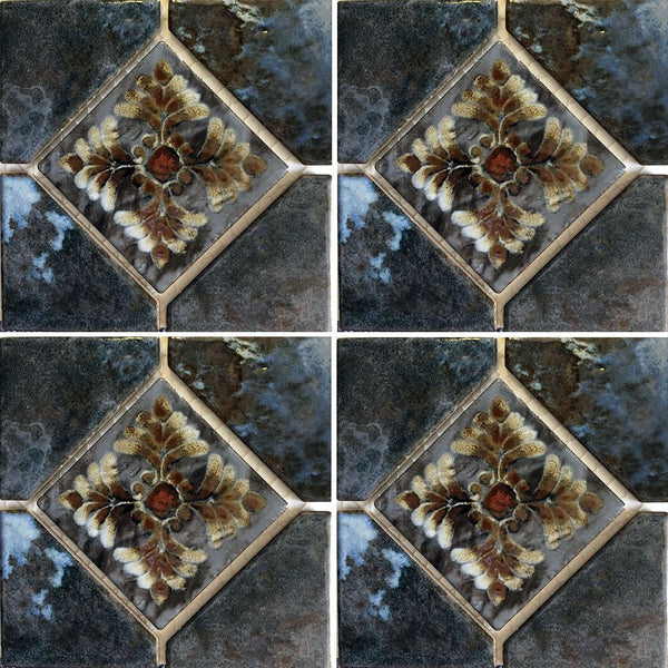 Cotto 6 Quot X 6 Quot Deco Joya 504 Fujiwa Porcelain Pool Tile