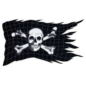 Jolly Roger Flag Pool Mosaic | JRFBLAM | Artistry in Mosaics