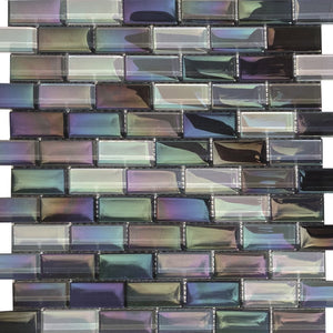 "KEEKELU12AQSTGE - Aquatica St. George, 1"" x 2"" - Glass Tile"