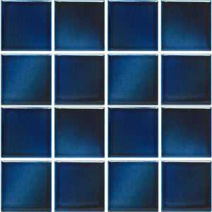 "KLM-330 - Misty Blue, 3"" x 3"" - Porcelain Pool Tile - Fujiwa"