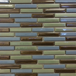 "LOMBO-884 - Persian Blue, 1/2"" x 3-1/4"" - Porcelain Pool Tile - Fujiwa"