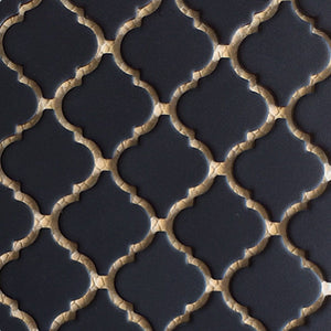 "LT-1022 - Matte Black, 2"" x 2"" - Porcelain Pool Tile - Fujiwa"