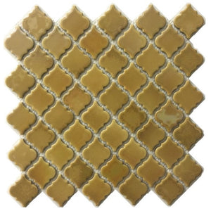 "LT-762MT - Metallic Gold, 2"" x 2"" - Porcelain Pool Tile - Fujiwa"