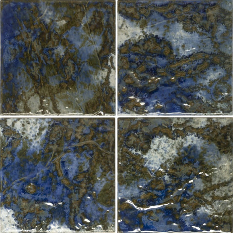 "LUNAR-673 - Peacock, 6"" x 6"" (4 pcs, 1 sqft) - Porcelain Pool Tile - Fujiwa"