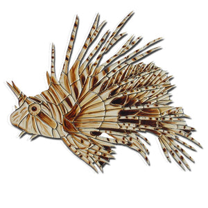 Lion Fish (Special Order) - Pool Mosaic - NS1202 - Artisry in Mosaics Custom Mosaics