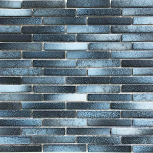 "Aqua Matte, 1/2"" x 3-1/4"" - Porcelain Pool Tile"