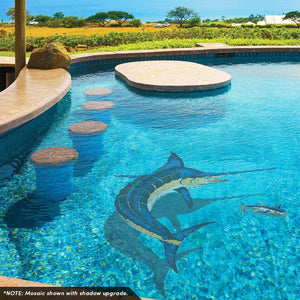 Marlin, CC | M63 | Pool Mosaic by Custom Mosaics
