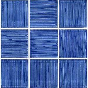 "Blue, 2"" x 2"" - Glass Tile"