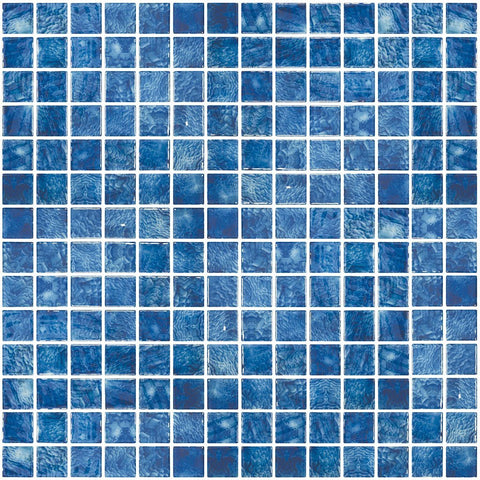 "ONIVANGARRBLUE1 - Aquatica Arrecife Blue, 1"" x 1"" - Glass Tile"
