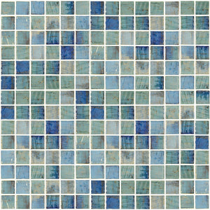 "ONIVANGFORESTBL1 - Aquatica Forest Blue, 1"" x 1"" - Glass Tile"