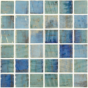 "ONIVANGFORESTBL2 - Aquatica Forest Blue, 2"" x 2"" - Glass Tile"