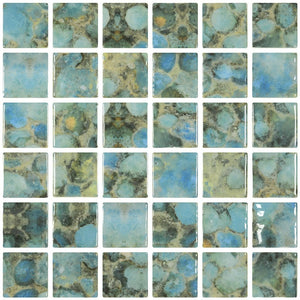 "ONIVANGRODAS2 - Aquatica Rodas, 2"" x 2"" - Glass Tile"