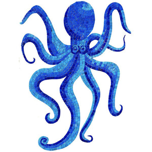 G-OCMB - Glass Octopus - Blue - Pool Mosaic