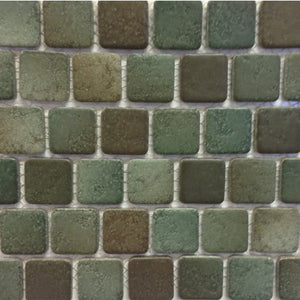 "PAD-173 - Moss Green, 1"" x 1"" - Porcelain Pool Tile - Fujiwa"