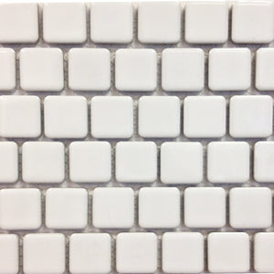 "PEB-102 - White, 1"" x 1"" - Porcelain Pool Tile - Fujiwa"