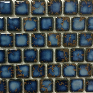 "PEB-139 - Terra Blue, 1"" x 1"" - Porcelain Pool Tile - Fujiwa"