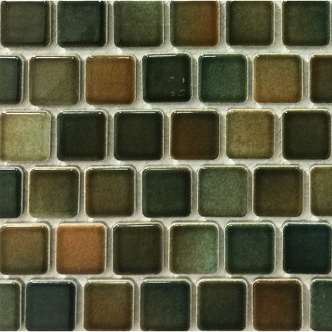 "PEB-169 - Coffee Blend, 1"" x 1"" - Porcelain Pool Tile - Fujiwa"