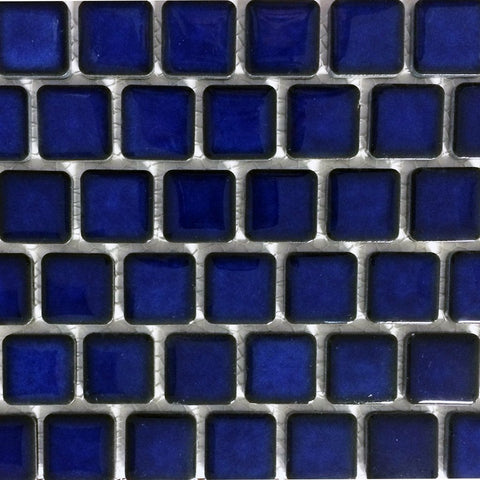 "PEB-191 - Royal Blue, 1"" x 1"" - Porcelain Pool Tile - Fujiwa"