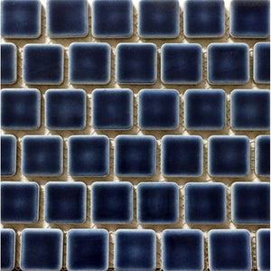 "PEB-199 - Navy Blue, 1"" x 1"" - Porcelain Pool Tile - Fujiwa"