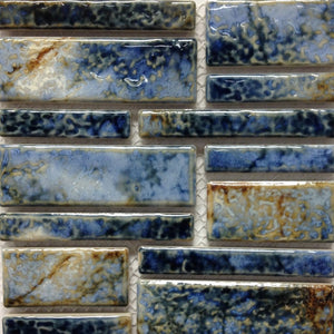 PILOS-402 - Autumn Blue, Random Block - Porcelain Pool Tile - Fujiwa