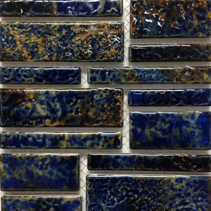 PILOS-404 - Summer Blue, Random Block - Porcelain Pool Tile - Fujiwa