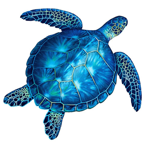 Blue Sea Turtle - Pool Mosaic
