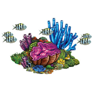 Coral Reef with Fish | PORC-CR78 | Pool Mosaic by AquaBlu Mosaics