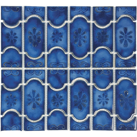 "POWPLBUE22PT Aquatica Marble Royal, 6"" x 6"" - Porcelain Pool Tile"