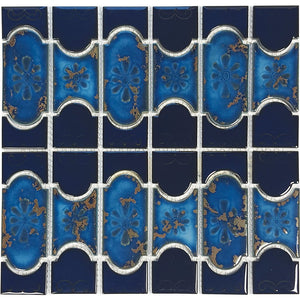 "POWPLBUE2440SPT Aquatica Cobalt with Terra, 6"" x 6"" - Porcelain Pool Tile"