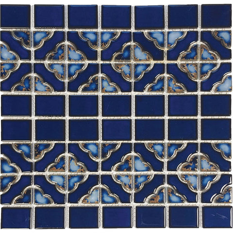 "POWPLDPQ30PT Aquatica Terra Blue, 6"" x 6"" - Porcelain Pool Tile"
